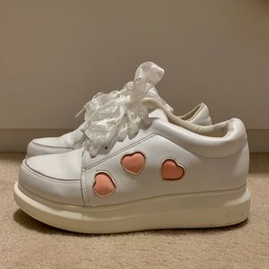 Shoes - white platform sneakers